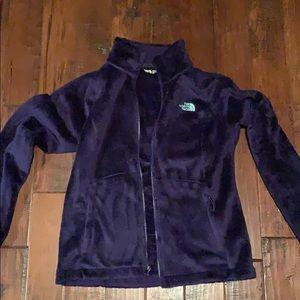 Purple North Face fleece zip up